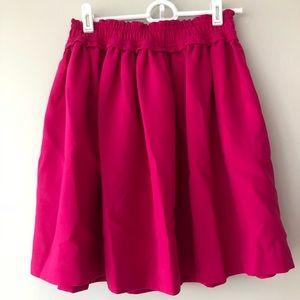 NWT Kate Spade pocket hot pink skirt